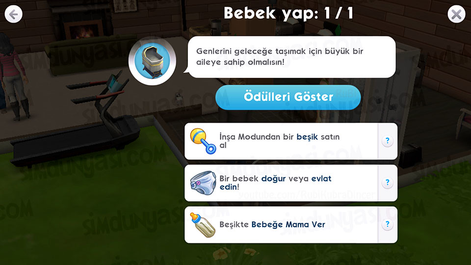 The Sims Mobile - Bebek Yap Serüveni - Bebek Yapmak & Evlatlık Edinmek için gereken aşamalar