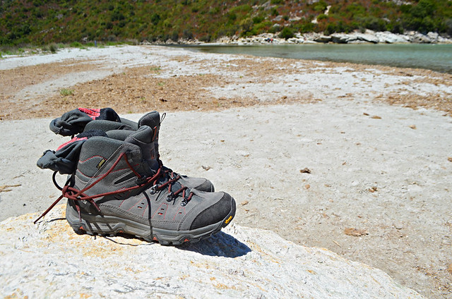 Slow travel, boots, Corsica