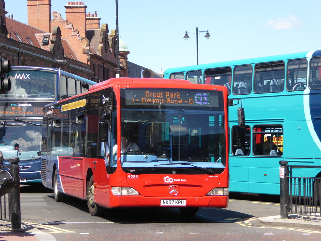 go north east 5283 nk07 kpu on q3, haymarket bus stn, newc… | flickr
