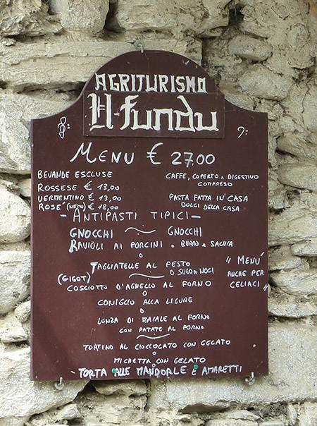 menu il fundu dolceaqua