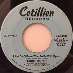 BROOK BENTON:I JUST DON'T KNOW WHAT TO DO WITH MYSELF(LABEL SIDE-A)