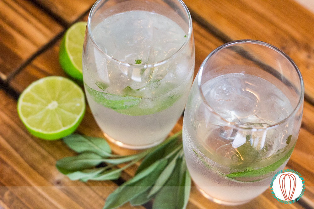 Happy Hour: Sage Gin Fizz Cocktail