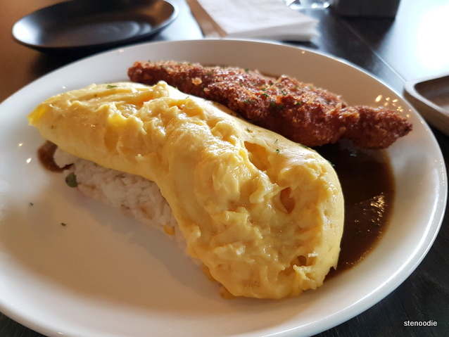 Katsu Curry Omelet Rice