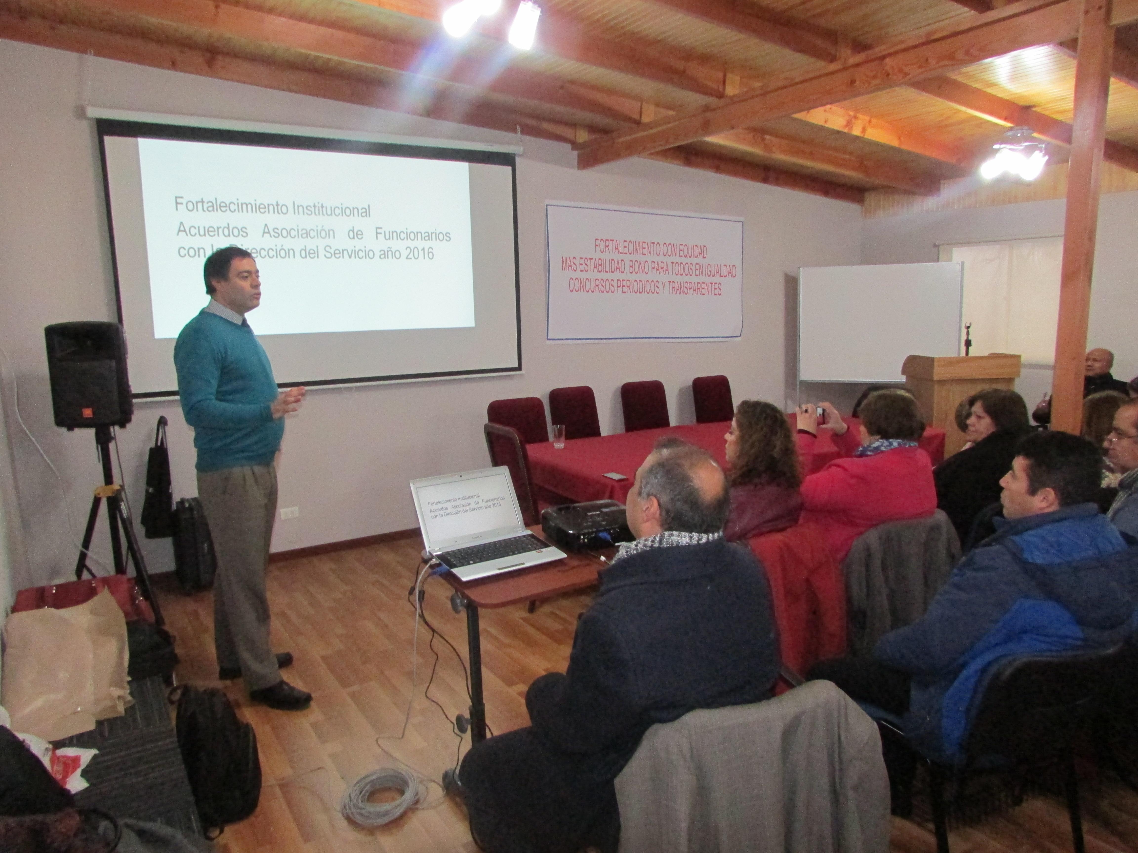 Asamblea AET Santiago por avances en Proyecto de Fortalecimiento - 14 Junio 2017