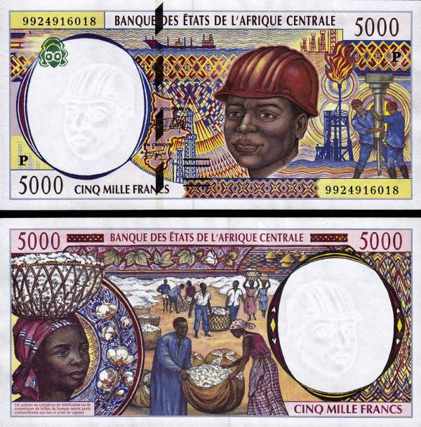 5000 Frankov Čad (Central African States) 1999, P604Pe