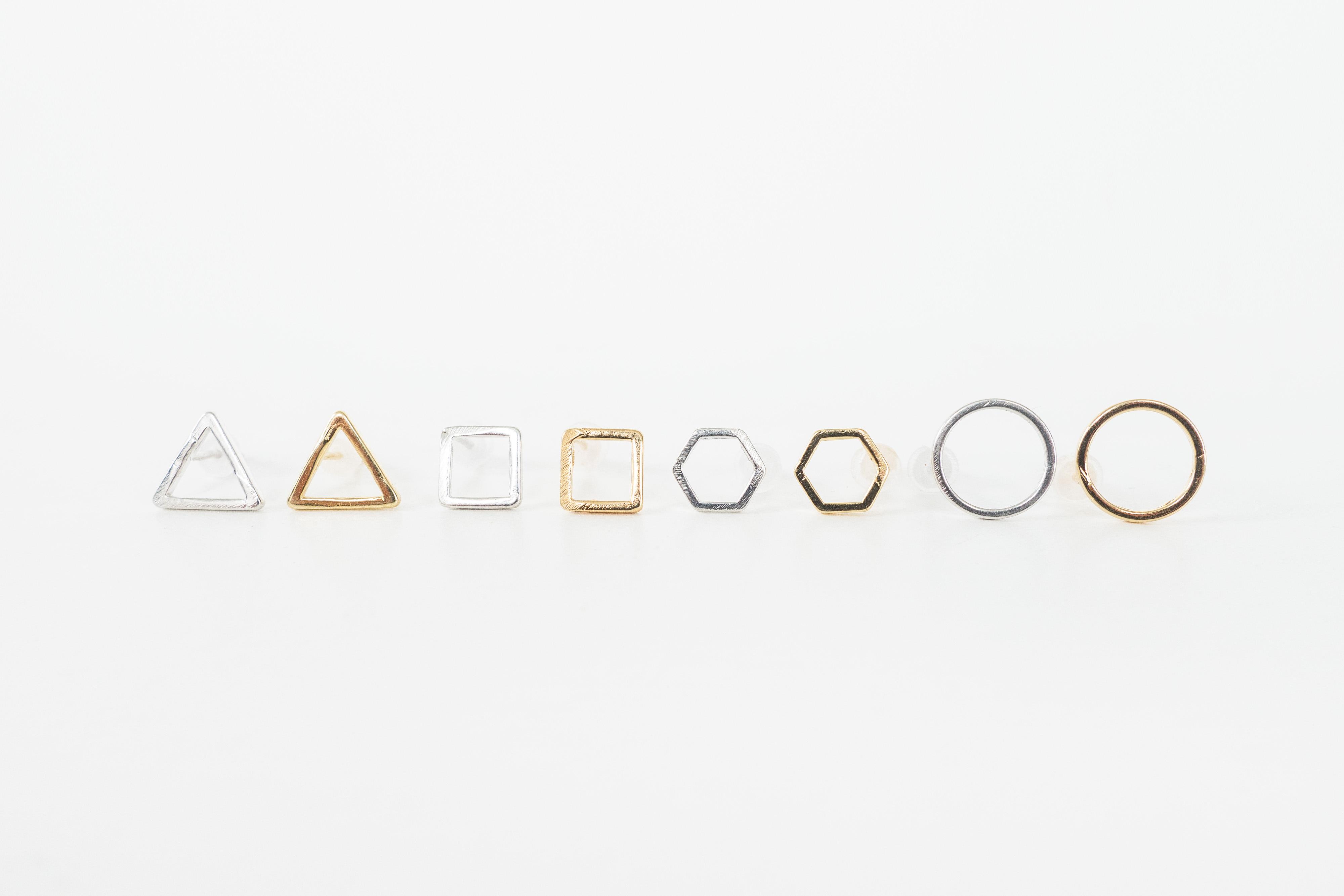 In The Making: Geometric Earrings