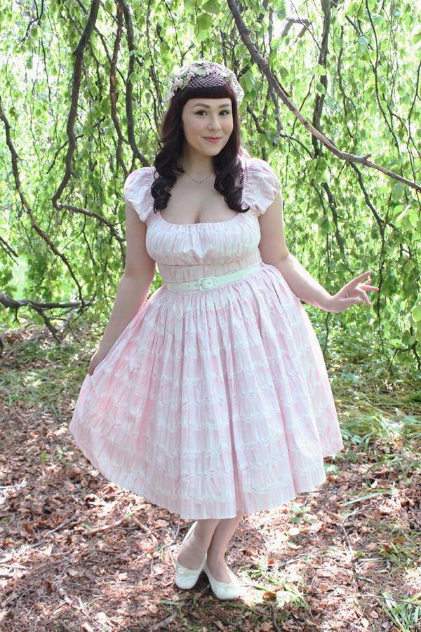 pastel pink pinup dress