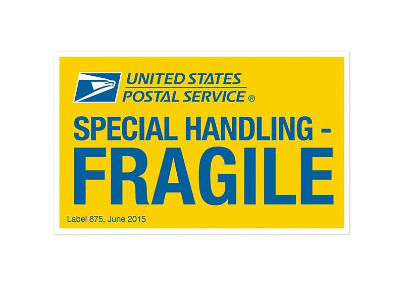 USPS: Special Handling-FRAGILE Label