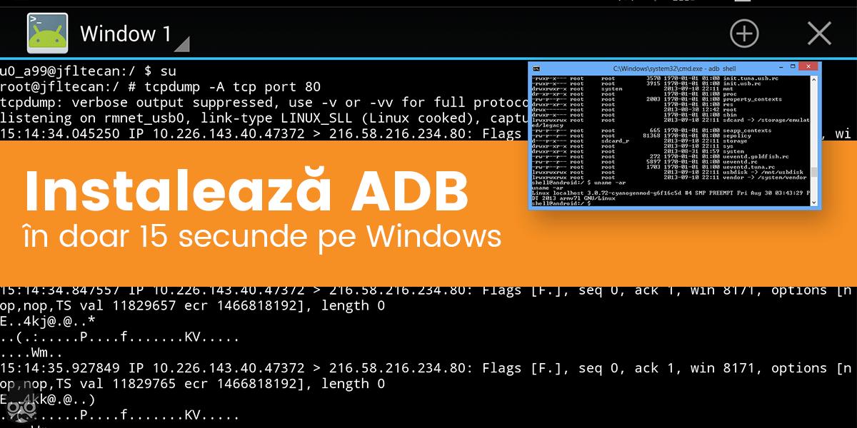 Instalare ADB