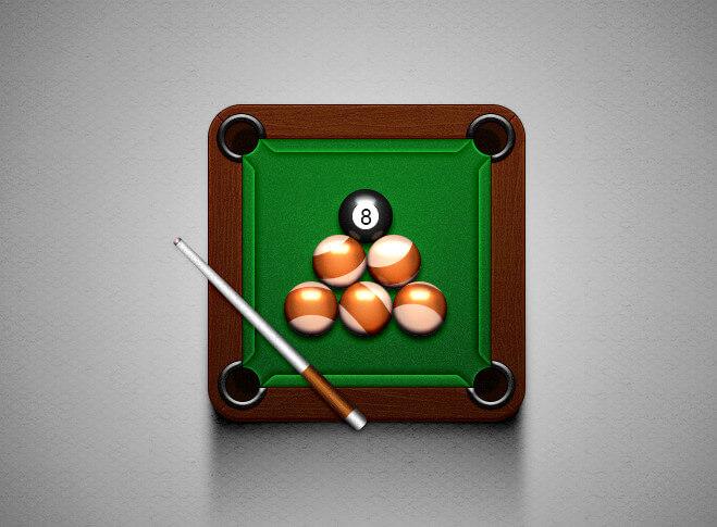 Billiard balls – photo files for editing in Photoshop