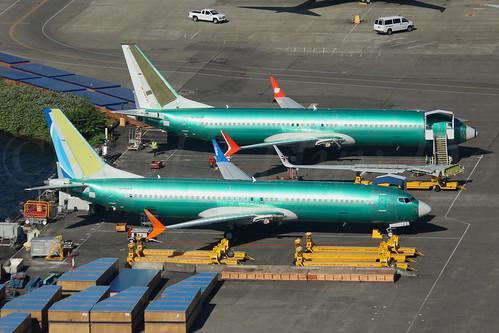 Boeing 737 MAX 8 Flydubai LN6448 & Boeing 737 MAX 8 Lion Air LN6456