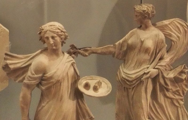 ウェッジウッドミュージアムの石膏。ゼピュロス 立体感バネェ