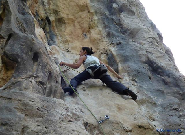 Gemma Clofent - Donut Cósmico, 6c+ -03- El Grau de Sant Climent, Sector A (10-06-2017)