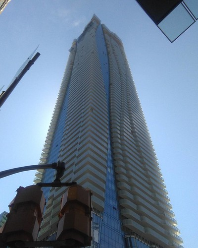 Looking up at One Bloor East