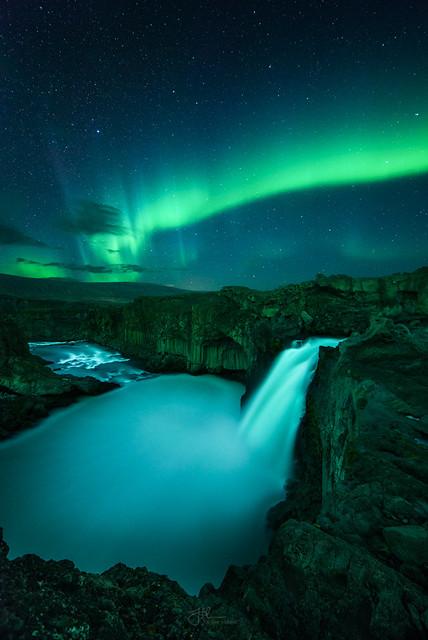 #adventure ,  🌍 Aldeyjarfoss Aurora, Iceland