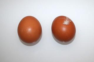10 - Zutat Hühnereier / Ingredient chicken eggs
