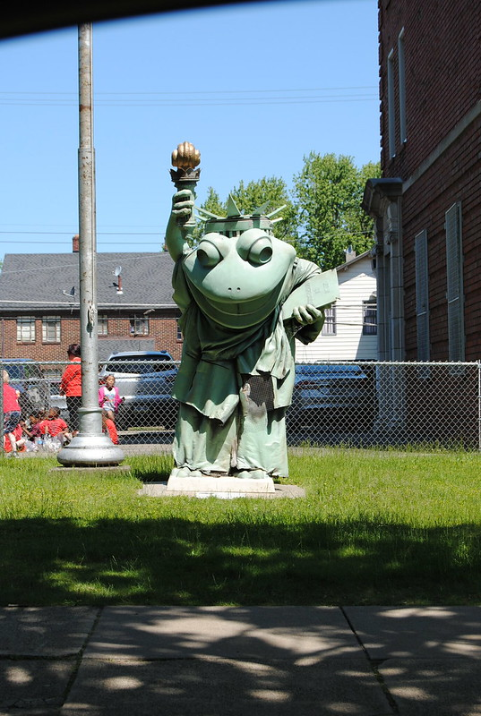 Statue of Liberty Frog, Emerson Gridley Elementary, Erie, Pennsylvania