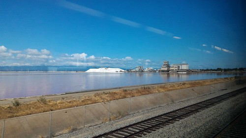 Salt Works - On the train from San Jose to Davis, California