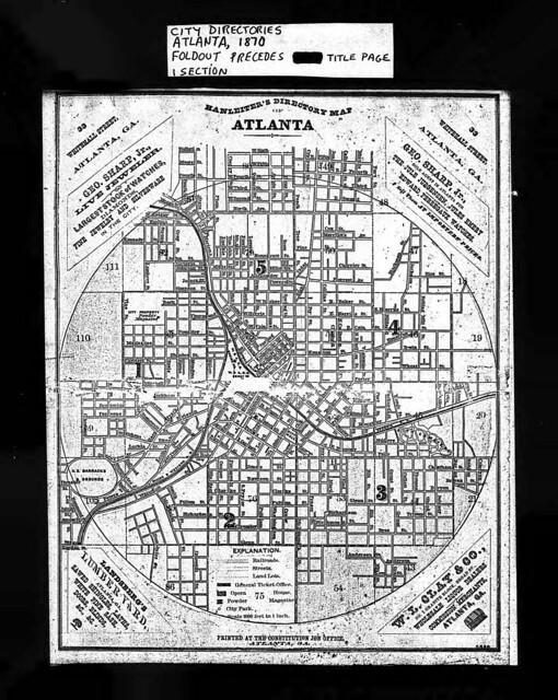 Atlanta City Directory 1870