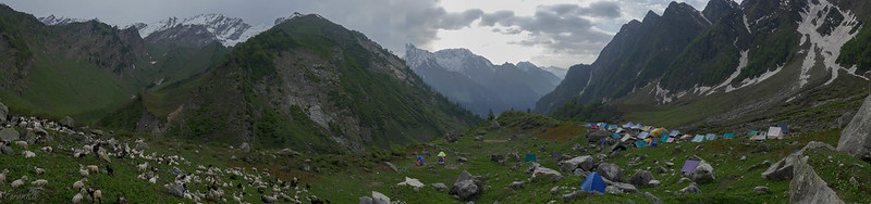 Panorama - Looking east at Bhakartach BC (10,900')