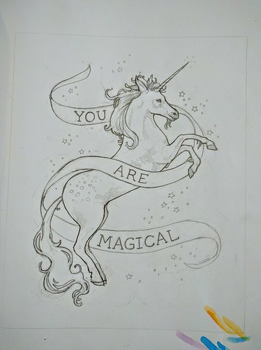 Unicorn | by sarah draws things