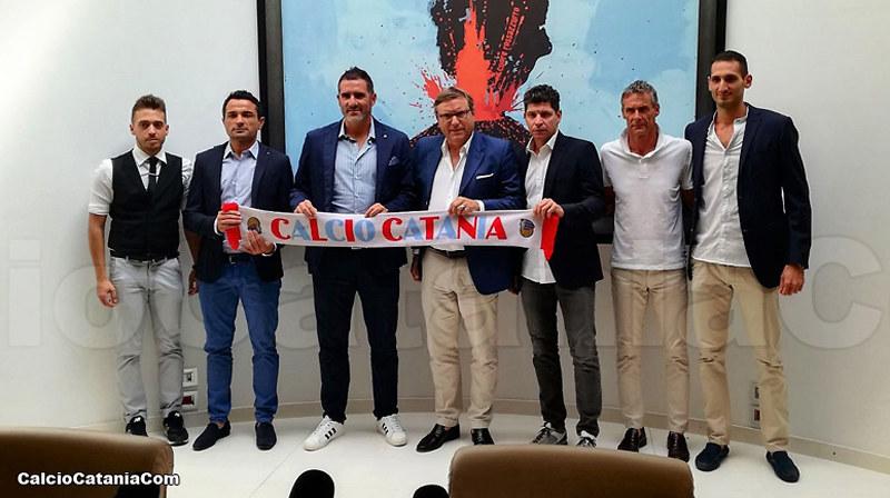 Il nuovo staff tecnico del Catania
