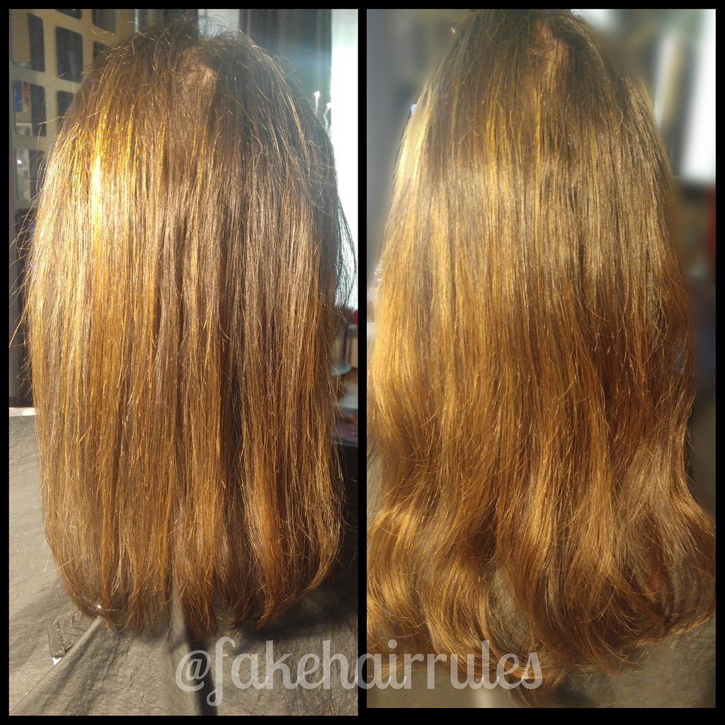Before And After Human Hair Extensions Fakehairrules Flickr