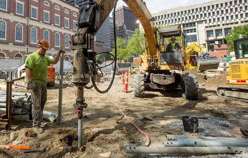 Helical Pile Installation - Faneuil Hall