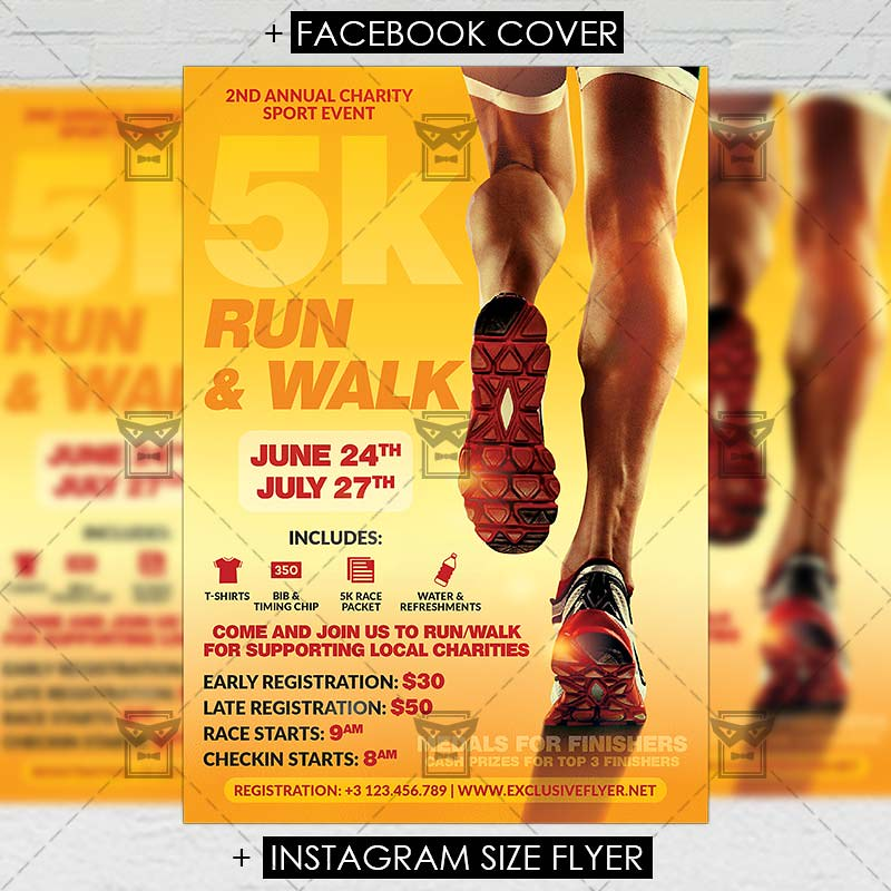 5k marathon premium a5 flyer template the 5k marathon is flickr