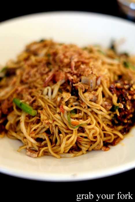 Mie goreng fried noodles at the Lansdowne Hotel in Chippendale Sydney
