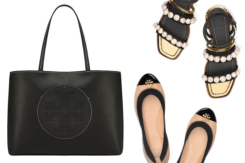 tory-burch-sale-black-tote-ballet-flats