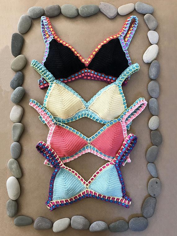 Crochet Bikini Pattern Malibu Bikini Boho Multi Color Flickr Custom Crochet Bikini Pattern