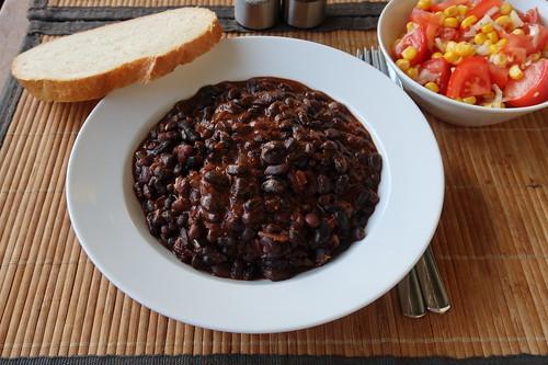 Chili mit Schwarzen Bohnen und Schokolade