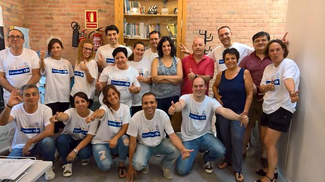 2017 -06- Fundación Solidaridad Carrefour ens pinta el local!