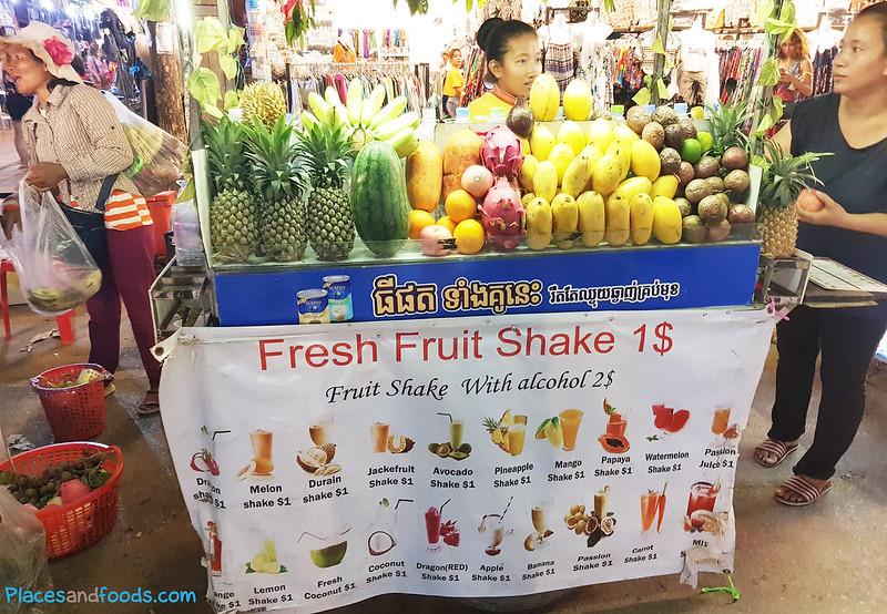 fruit shake stall