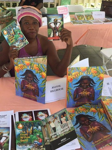 Author Joanne Hillhouse - a moment from a local fair held in recognition of World Intellectual Property Rights Day, April 26th 2017. From #WeNeedDiverseBooks: Author Re-writes the Fairytale