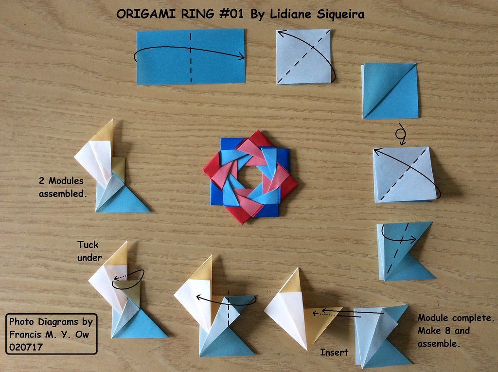 Origami Ring 01 By Lidiane Siqueira I Made Photo Diagrams Flickr