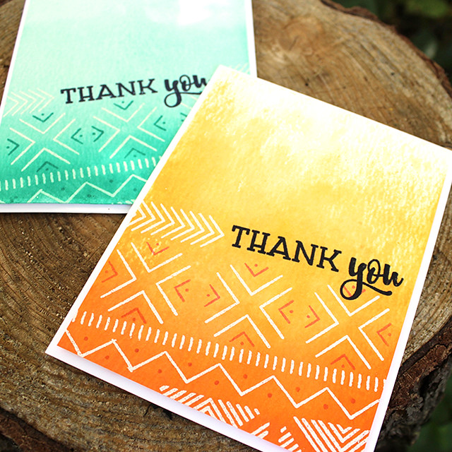 Textile Thank You Cards 2
