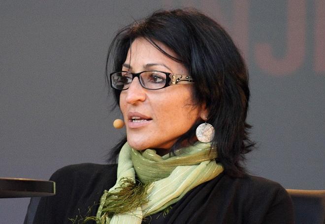 Susan Abulhawa az Oslói Könyvfesztiválon (fotó: decltype)