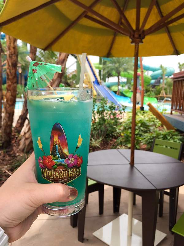 Tropical drink at Volcano Bay