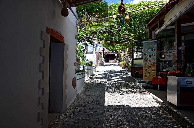 Agia Roumeli at the sea level entrance to Samaria Gorge, Crete