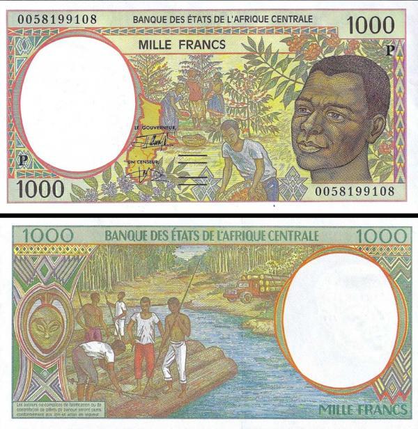 1000 Frankov Čad (Central African States) 2000, P602Pg