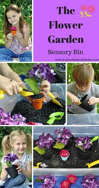 The Flower Garden Sensory Bin