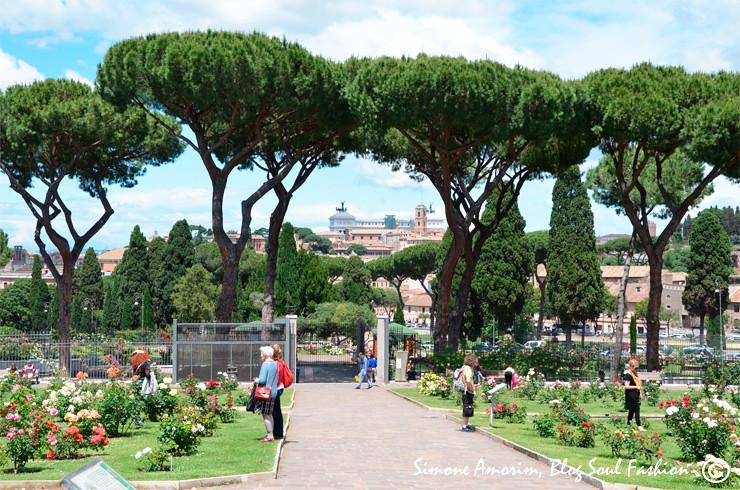 Olha a vista desse jardim com o Monumento a Patria ao fundo!