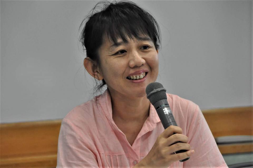 下澤陽子於「守護孩子遠離輻射之會」座談分享自身遭遇。