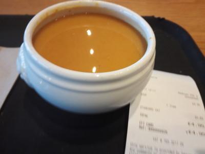 エジンバラ城のカフェテリアのスープ