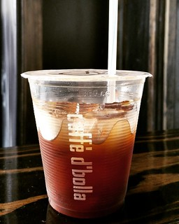 a deliciously refreshing iced Americano | by caffe d'bolla