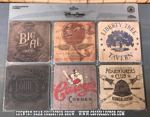 2017 Disney Twenty Eight & Main Coaster Set Featuring Big Al - Country Bear Collector Show #106