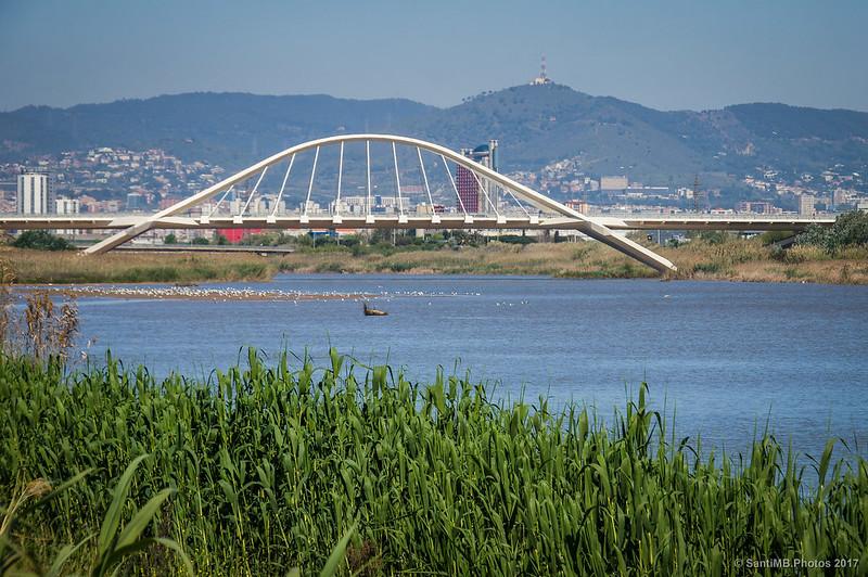 El Pont del Prat sobre el río Llobregat