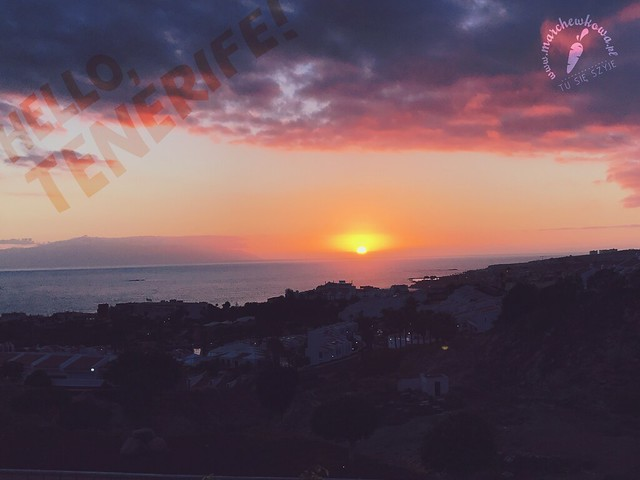 zachód słońca, Hello, Tenerife!